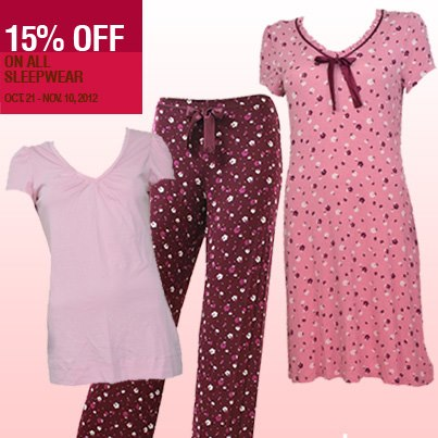 Marks & Spencer Sleepwear Sale October - November 2012