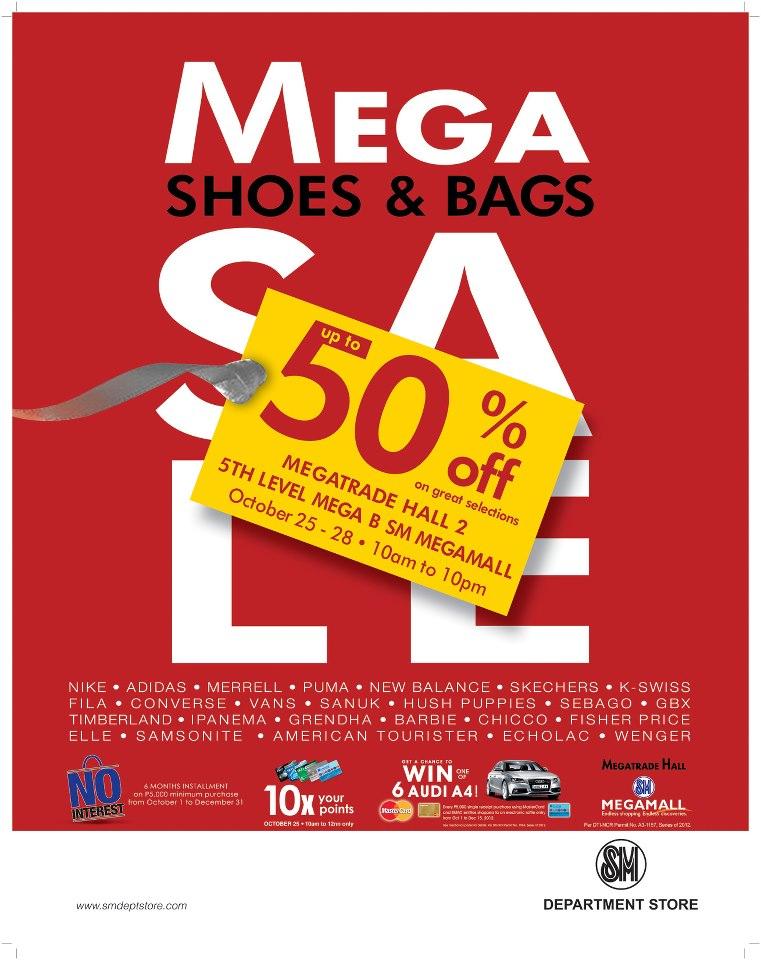 Mega Shoes & Bags Sale @ SM Megatrade Hall October 2012