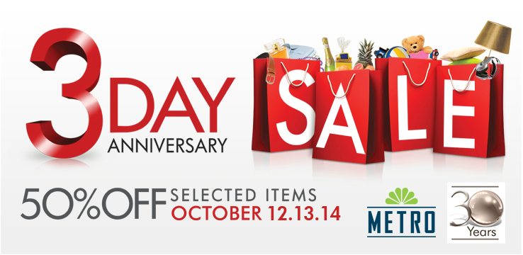 Metro Stores 3-Day Sale October 2012