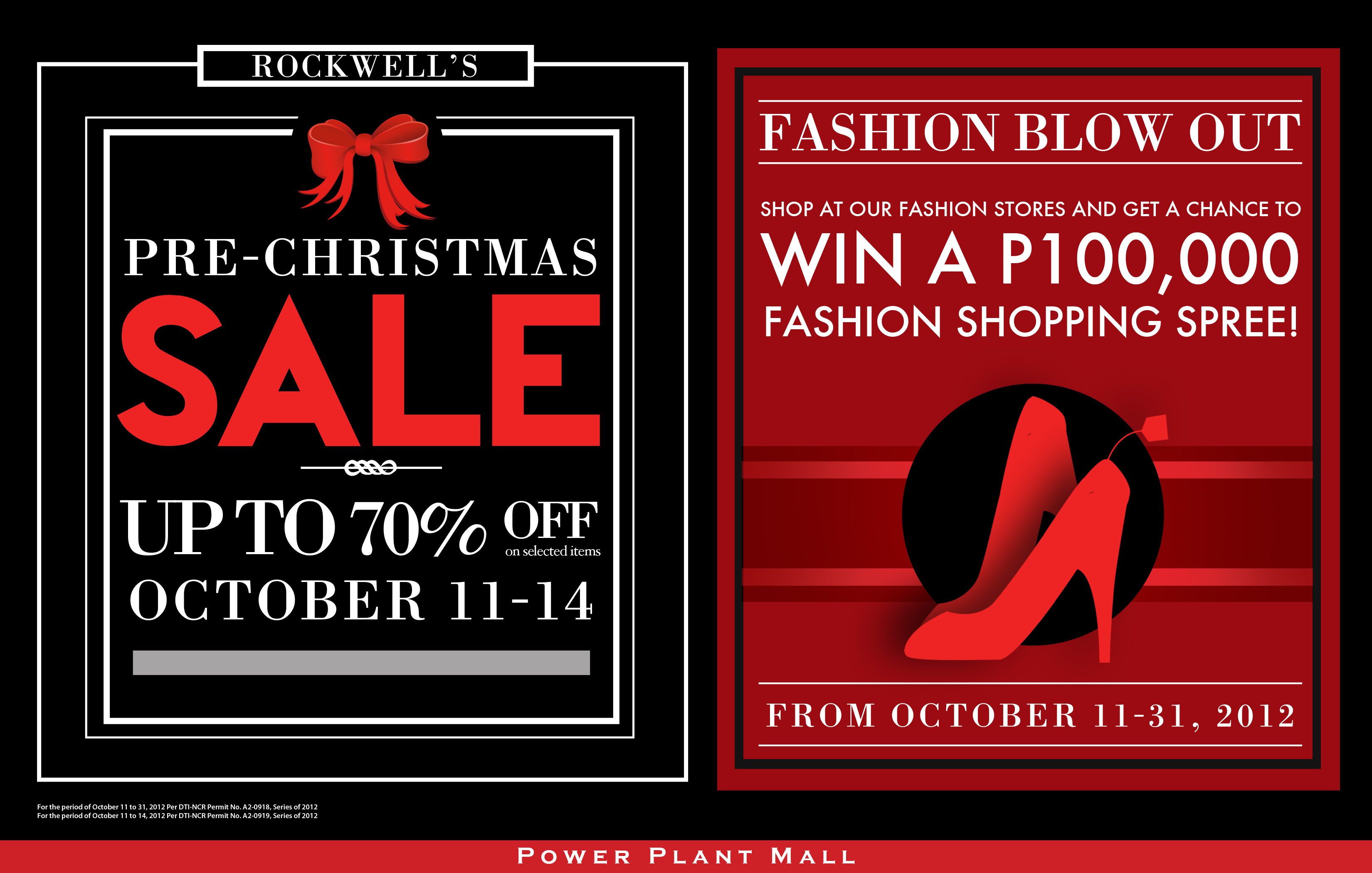 Power Plant Mall Pre-Christmas Sale October 2012