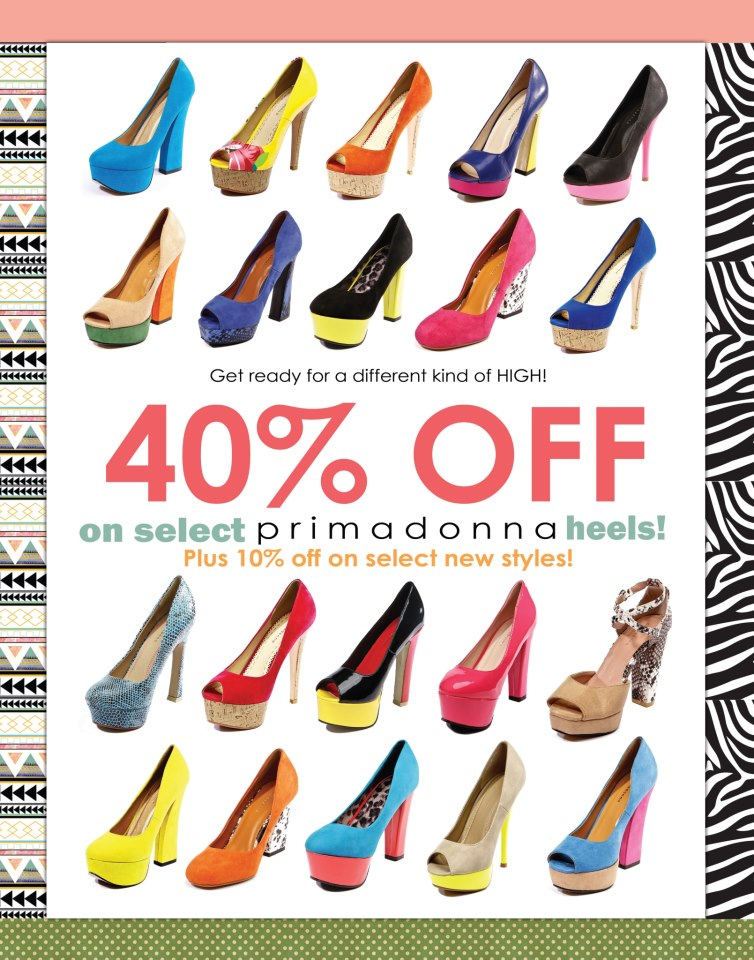 Primadonna Shoes Sale October 2012