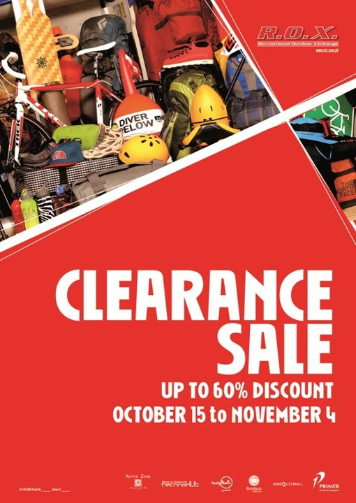 R.O.X. Clearance Sale October - November 2012