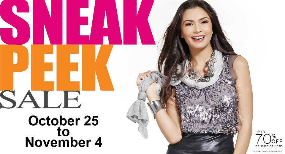 Robinsons Department Store Sneak Peek Sale October - November 2012