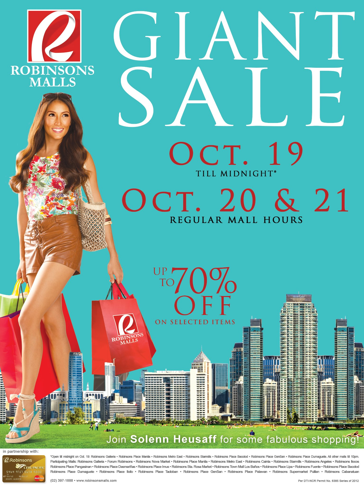 Robinsons Malls Giant Sale October 2012