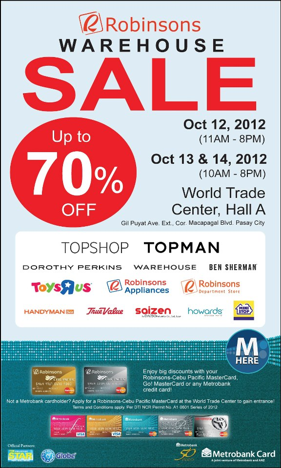 Robinsons Warehouse Sale October 2012