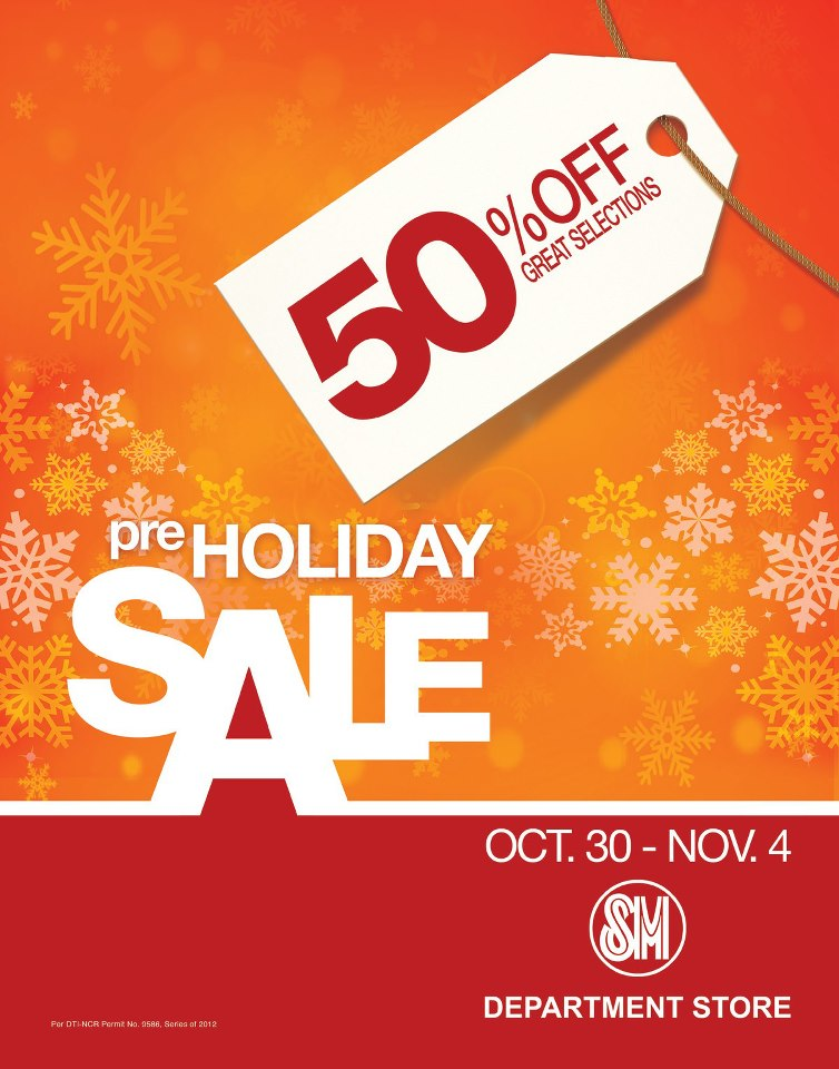 SM Department Store Pre-Holiday Sale October 2012