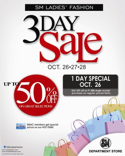 SM Ladies Fashion 3-Day Sale October 2012