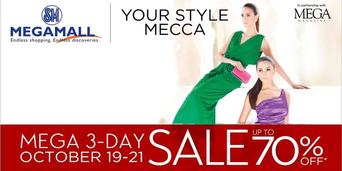 SM Megamall 3-Day Sale October 2012