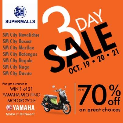 SM Supermalls 3-Day Sale October 2012