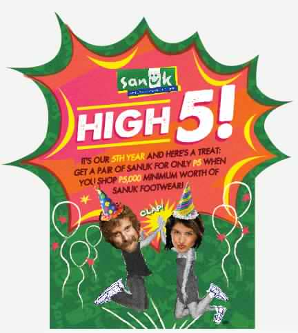 Sanuk High 5 Birthday Treat October 2012