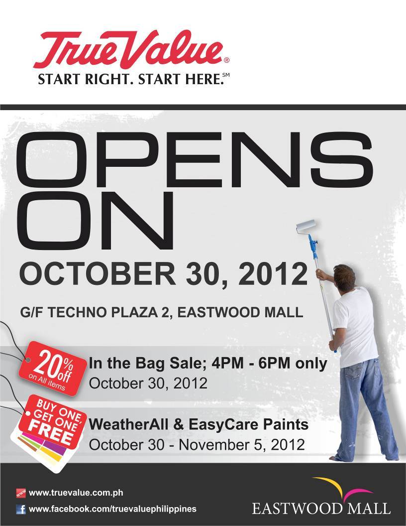 True Value Eastwood Opening Sale October 2012