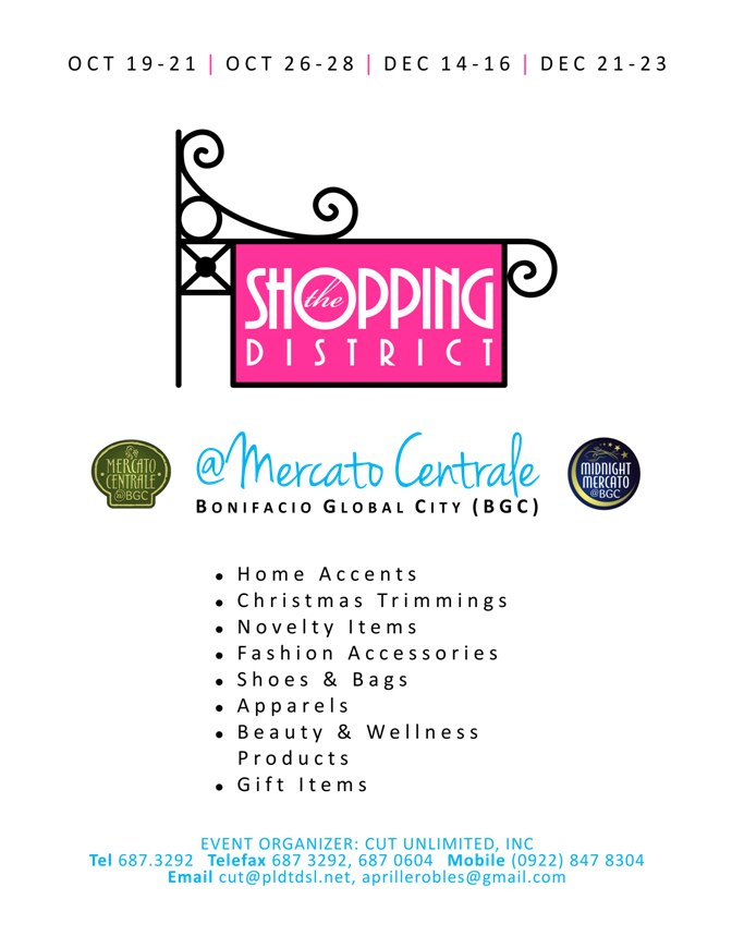 The Shopping District @ Mercato Centrale October - December 2012