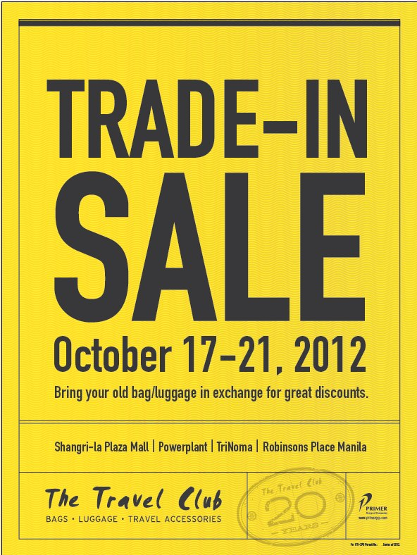 The Travel Club Trade-In Sale October 2012
