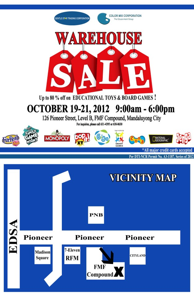 Toy Warehouse Sale October 2012