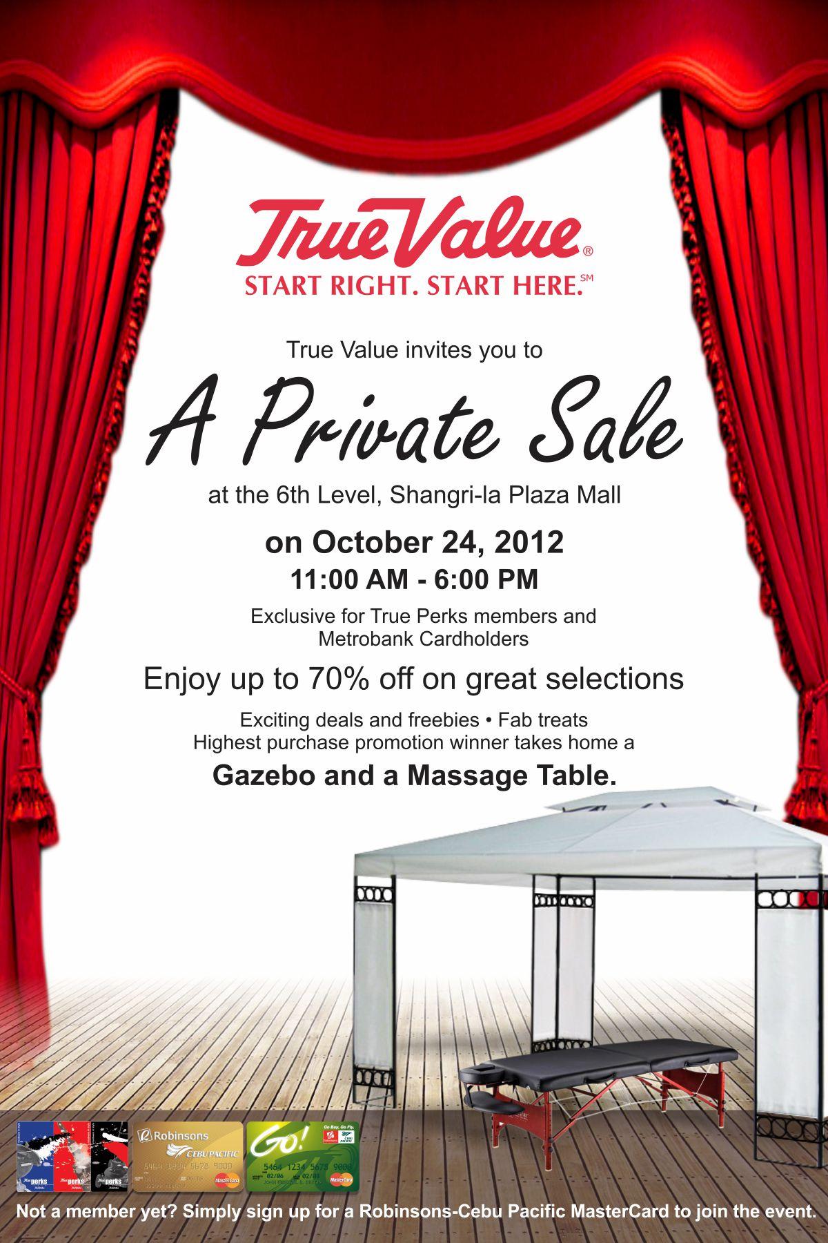 True Value's A Private Sale @ Shangri-La Plaza Mall October 2012