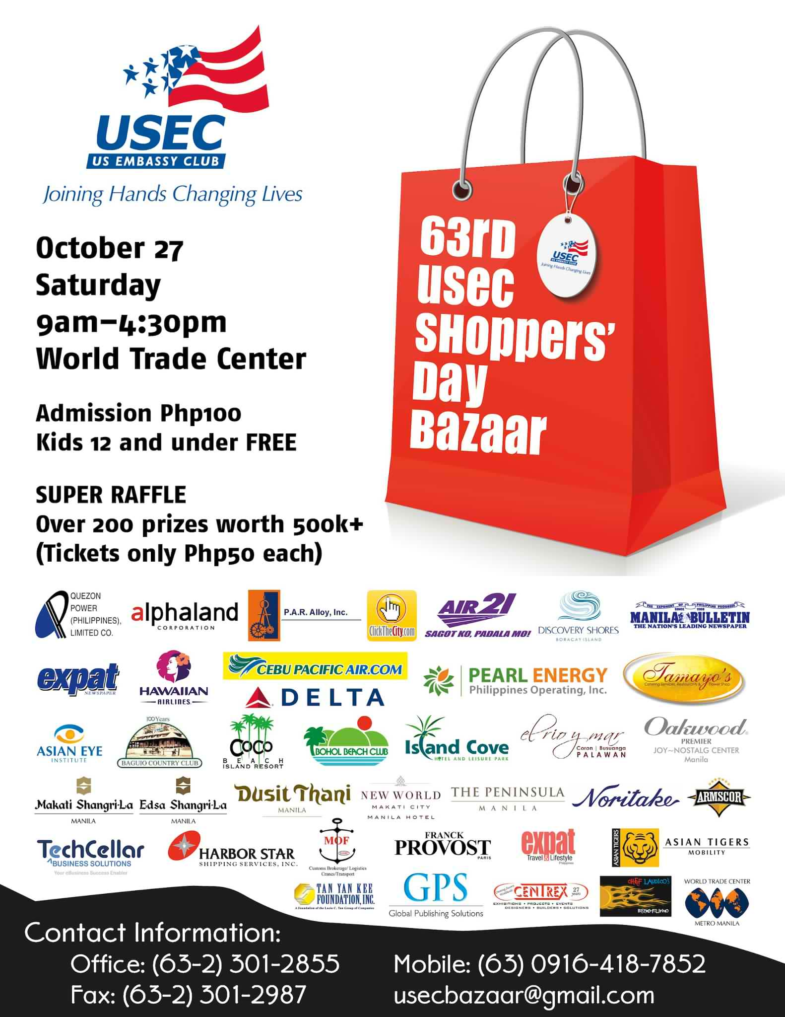 USEC Shoppers Day Bazaar @ World Trade Center October 2012