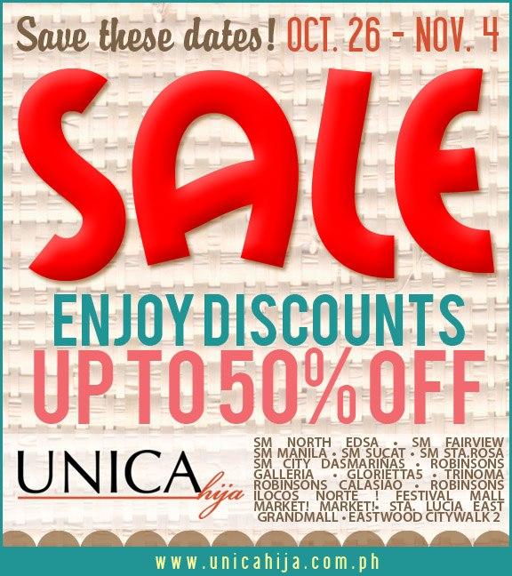 Unica Hija Sale October - November 2012