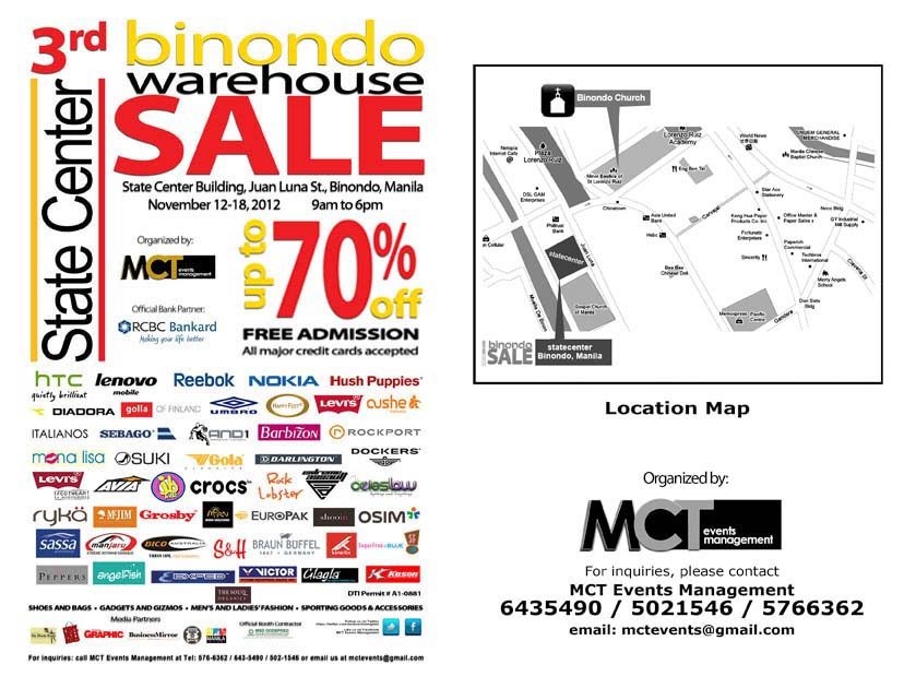 3rd Binondo Warehouse Sale November 2012