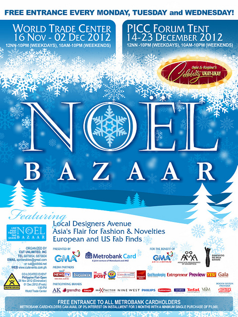 Noel Bazaar @ World Trade Center November - December 2012