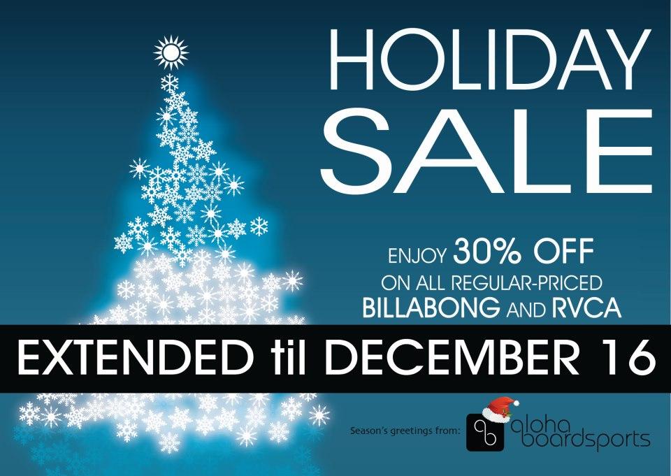 Aloha Boardsports Holiday Sale November - December 2012