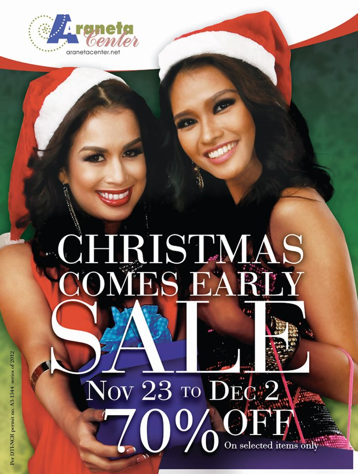 Araneta Center Christmas Sale November - December 2012