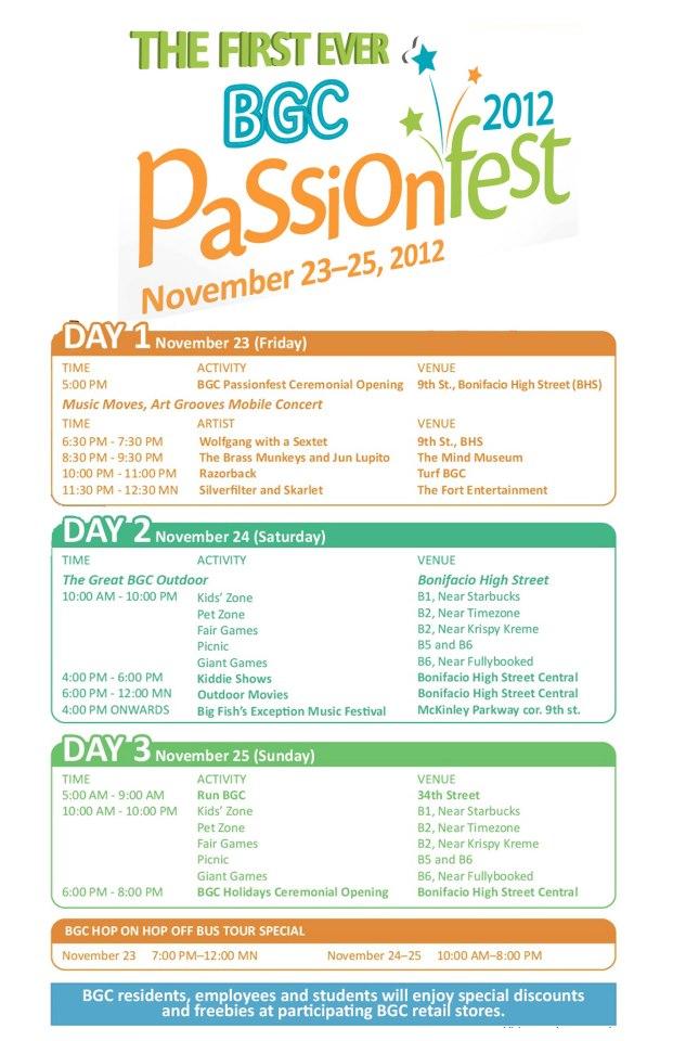 Bonifacio Global City Passionfest November 2012
