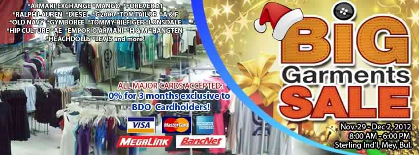 Big Garments Sale November - December 2012