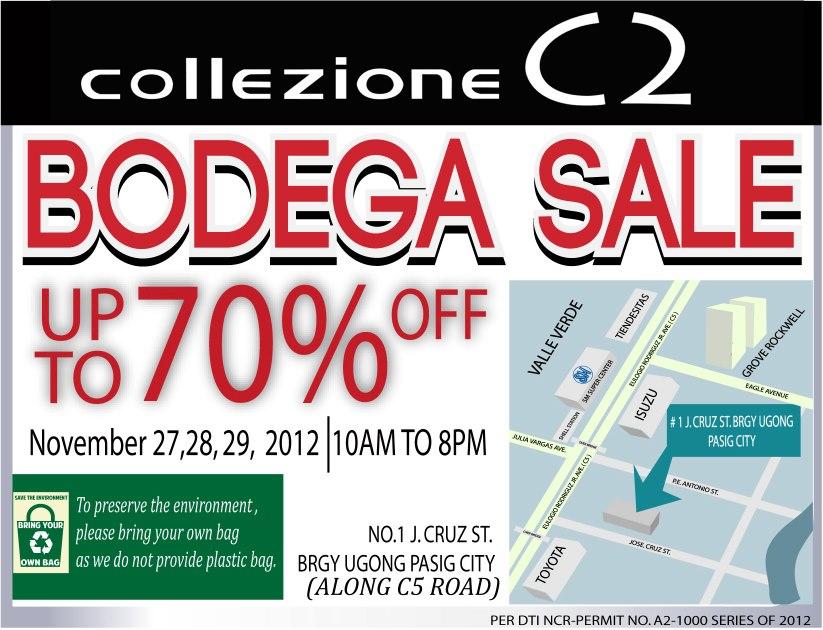 Collezione Bodega Sale November 2012