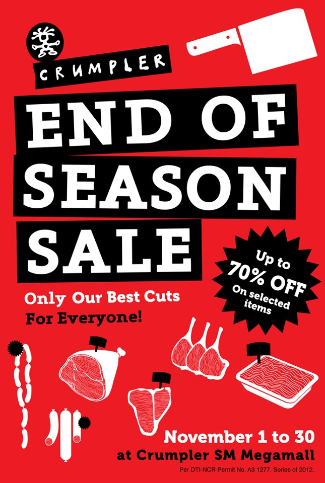 Crumpler End of Season Sale @ SM Megamall November 2012