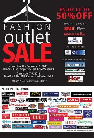 Fashion Outlet Sale @ SM Megatrade Hall November - December 2012