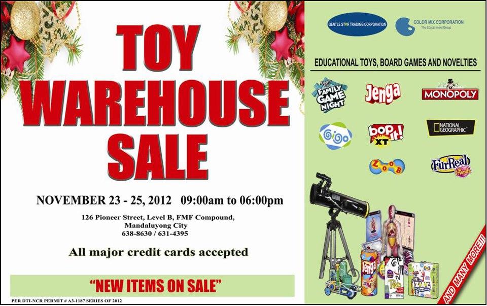 GST Toy Warehouse Sale November 2012