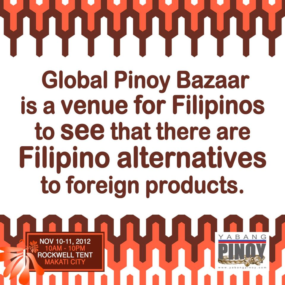 8th Global Pinoy Bazaar @ Rockwell Tent November 2012