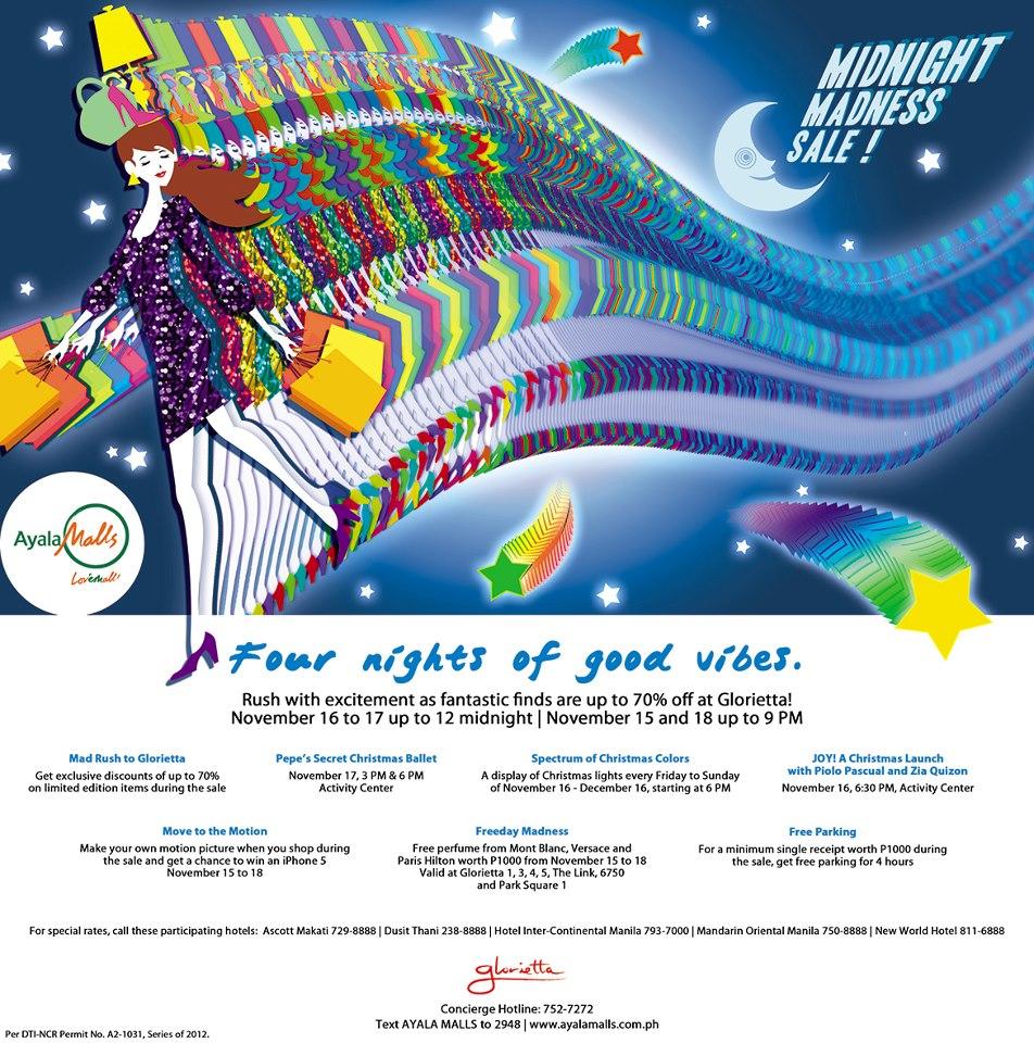 Glorietta Midnight Madness Sale November 2012