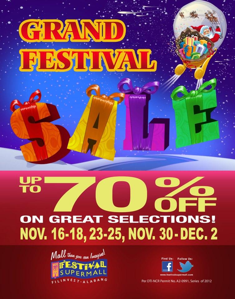 Grand Festival Sale @ Festival Supermall November - December 2012