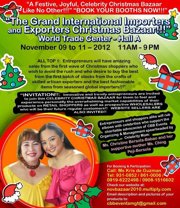 The Grand International Importers & Exporters Christmas Bazaar @ World Trade Center November 2012