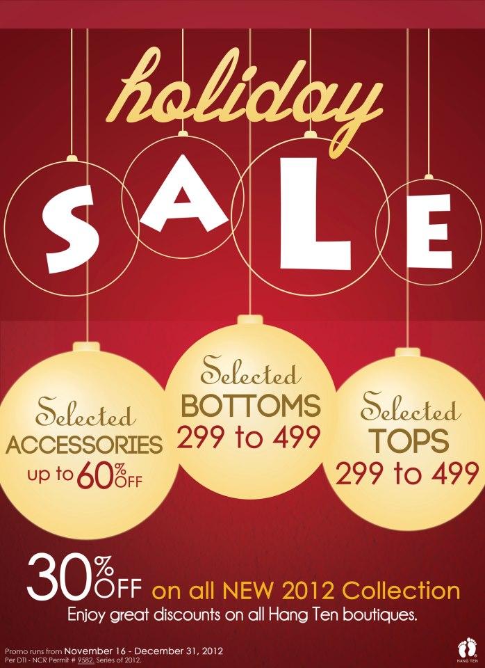 Hang Ten Holiday Sale November 2012