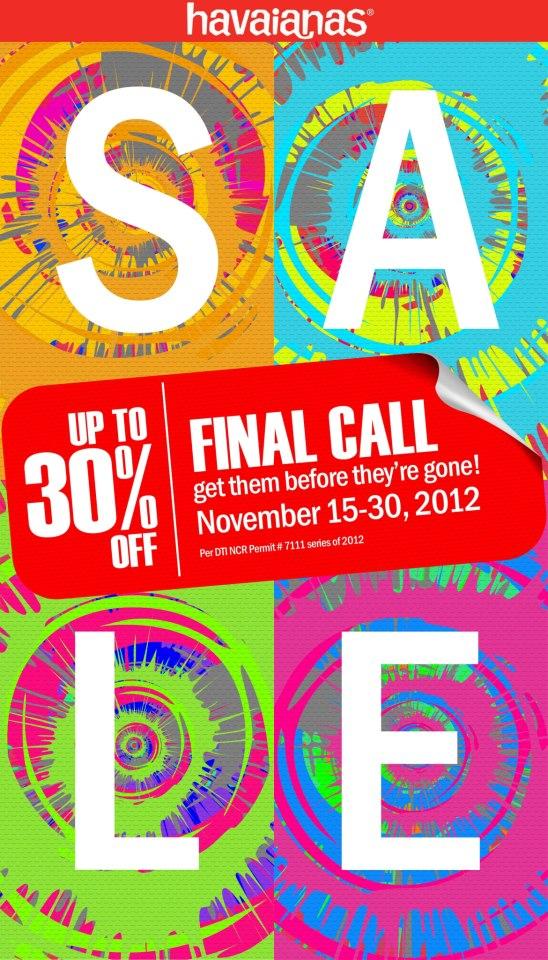 Havaianas Sale November 2012