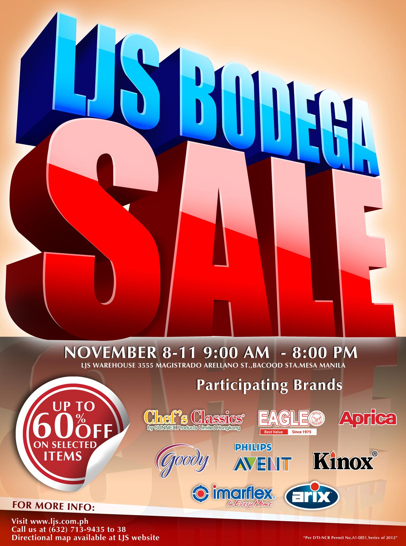 LJS Bodega Sale November 2012