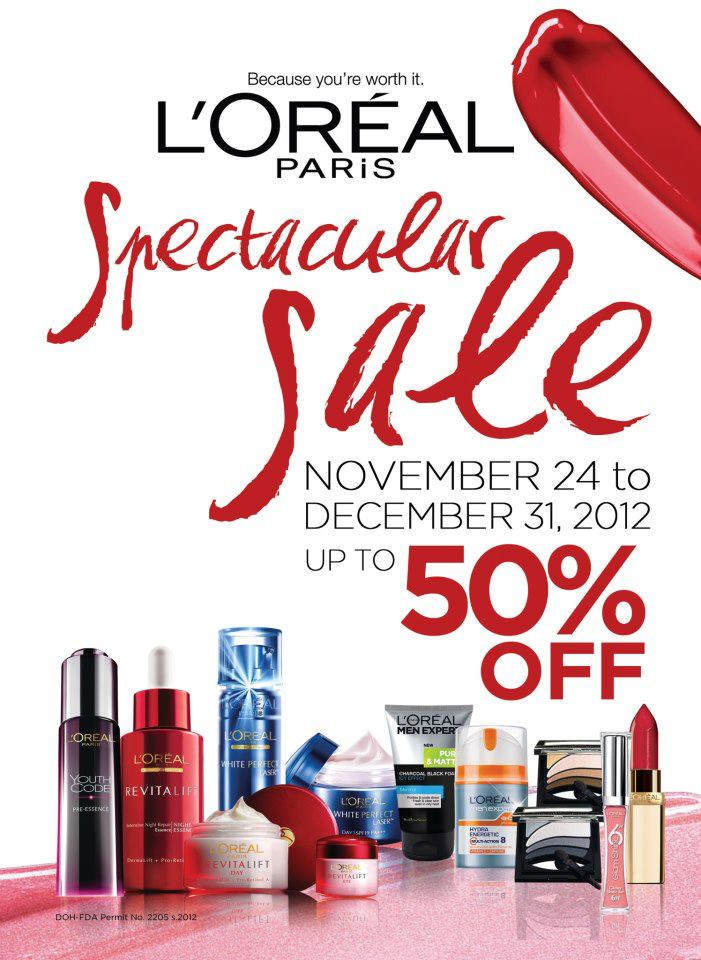 L'Oreal Spectacular Sale November 2012