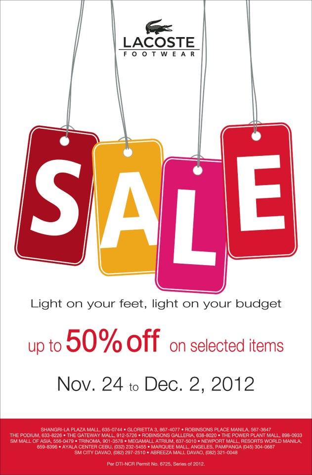 Lacoste Footwear Sale November - December 2012