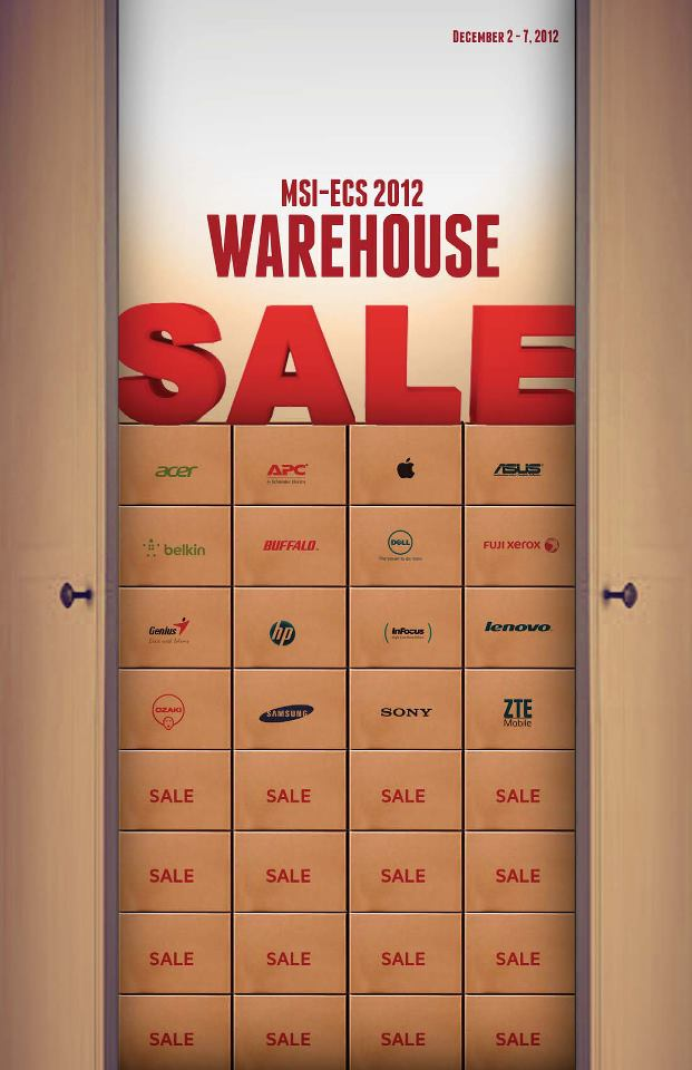 MSI-ECS Warehouse Sale December 2012