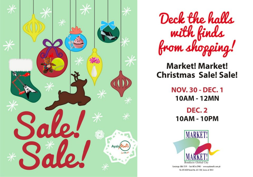 Market Market Christmas Sale November - December 2012