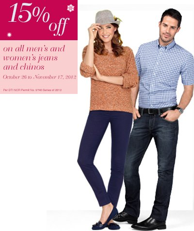 Marks & Spencer Jeans & Chinos Sale November 2012