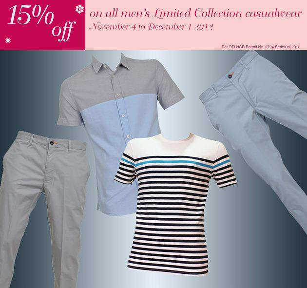 Marks & Spencer Mens Limited Collection Casualwear Sale November 2012