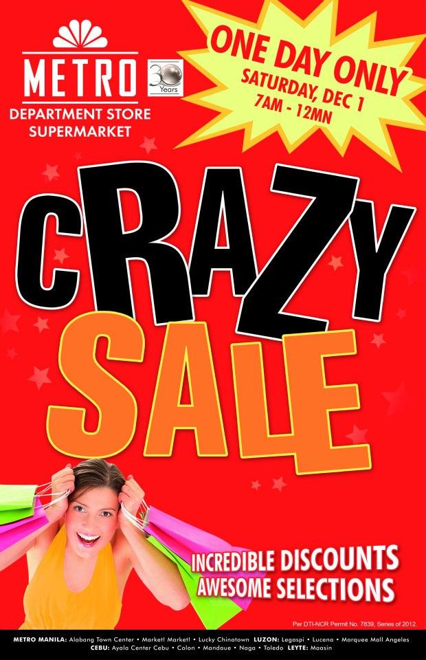 Metro Department Store & Supermarket Crazy Sale December 2012