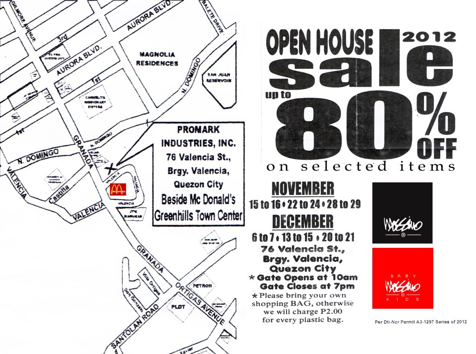 Mossimo Warehouse Sale November & December 2012