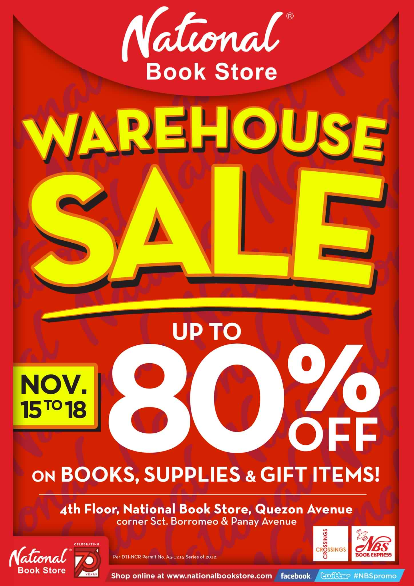 National Bookstore Warehouse Sale November 2012