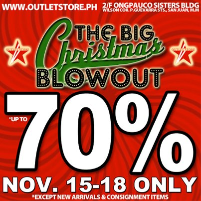 Outlet Store PH Big Christmas Blowout Sale November 2012