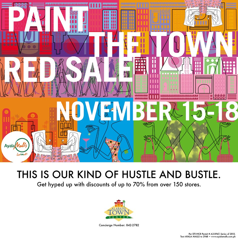 Paint The Town Red Sale @ Alabang Town Center November 2012