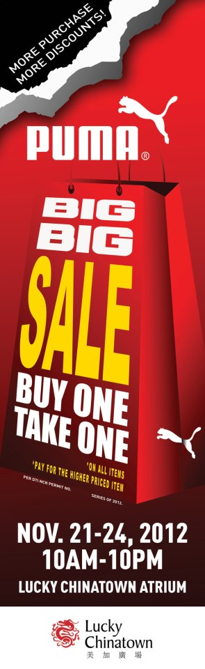 Puma Big Sale @ Lucky Chinatown Mall November 2012